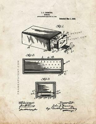 Humidor Patent Print Old Look