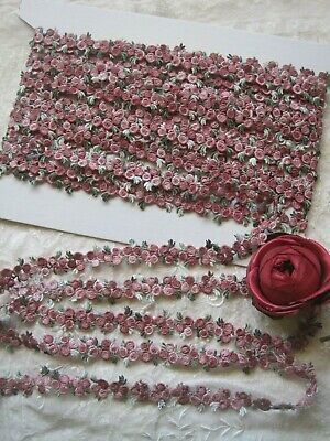Vintage Style Pink Tiny Doll Size Applique Trim,   5 Yards