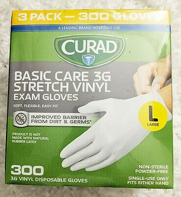 Size Large CURAD Basic Care 3G 300 Count 100 X 3