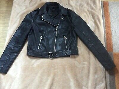 New Life Faux Leather Girls Jacket, Size: 12 Vgc