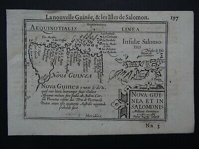 1609 LANGENES  Atlas Kaerius map  NEW GUINEA - Nova Guinea - Solomon Islands