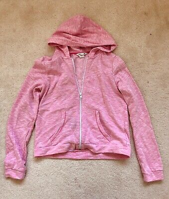 Girls Pink Zip Up Hoodie Age 12-14 Years From H&M