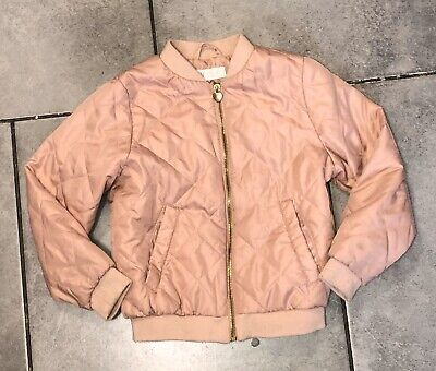 H&M Girls Quilted Jacket Coat 6-7 Years