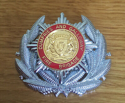 An old Dumfries and Galloway  Fire Brigade, Officers cap badge.