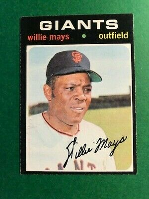 1971 Topps Willie Mays #600 Designated RECOLORED by PSA - See below
