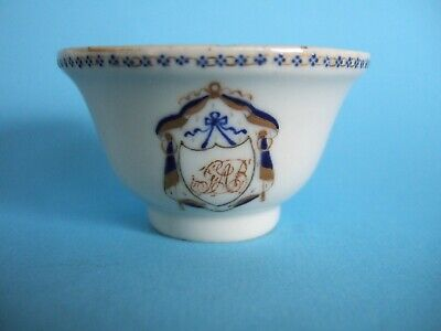A Chinese Monogrammed Teabowl c.1785-90.