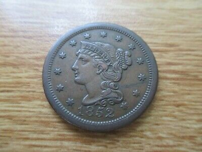 1852 Braided Hair Large Cent.  Lot #267.