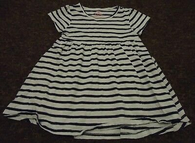 Next Short sleeve Black/white striped dress age 3-4 years