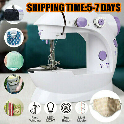 Desktop Sewing Machine Mini Electric Portable Hand Held Double Speed w/ Light UK