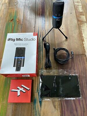 IK Multimedia iRig MIC STUDIO LCD BLACK for IOS, MAC PC and ANDROID DEVICES