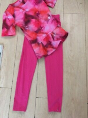 girls ted baker top and legging. Leggings Never Worn Age 11-12 Pink And red 🥰
