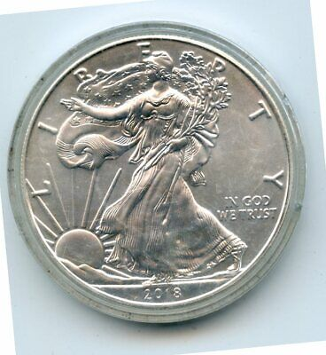 2018 $1 American Silver Eagle 1 Troy OZ  Fine Silver Coin (In Holder)