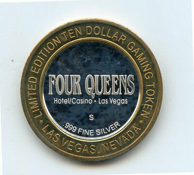$10 Four Queens Hotel Casino Limited Edition Gaming Token .999 Fine Silver Token