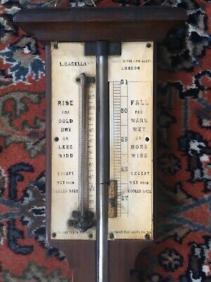 Antique 19th C. stick barometer by L. Casella of London, maker to Admiralty 3 FT
