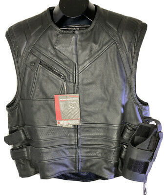 Speed & Strength Mens The Quick and The Dead Leather Vest Size XXL NEW