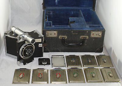Devin Tri-Color Camera Outfit in Case Early 1930's w/ C.P. Goerz Lens * Rare *