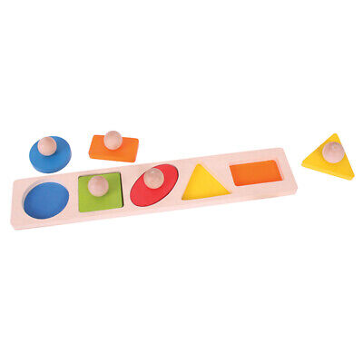 Bigjigs Toys Wooden Educational Shape Matching Board