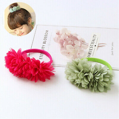 Hair Kids Bands Elastic Clips Flower Girls Accessories Multi-layer
