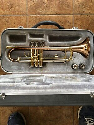 Simba TR205 Trumpet - Rose Brass Bell & Leadpipe - Nice Beginer, Case and 2 MP