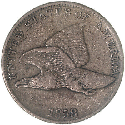 1858 Flying Eagle Cent Large Letters Very Fine Penny VF