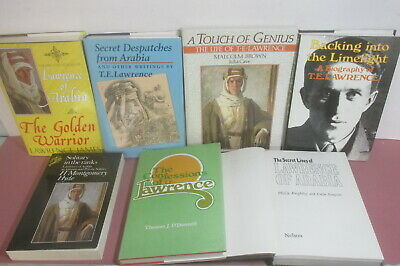 T. E. Lawrence themed book collection x 7 titles, job lot