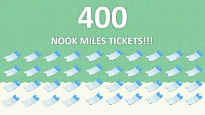 400 Nook Miles Tickets NMT Stacks ✨✈️Animal Crossing New Horizons ACNH FAST!