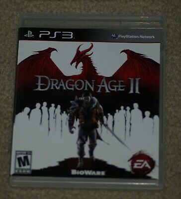 Dragon Age 2  (Playstation PS3) Cover Art, Manual & Game Case- No Game