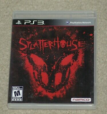 Splatterhouse ( PlayStation 3) Cover Art, Manual & Game Case- No Game