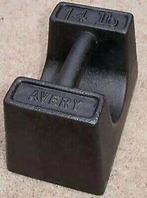 14lb Cast Iron weight Door Stop Gazeebo Marquee Vintage Rustic 14 Pound Avery