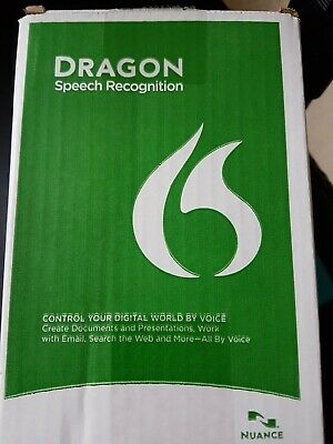 New Nuance Dragon Naturally Speaking Premium 13 w Headset and Lifetime Key Code