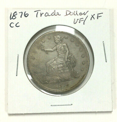 US 1876-CC Seated Liberty SILVER TRADE DOLLAR in VF / XF Condition - VERY NICE!
