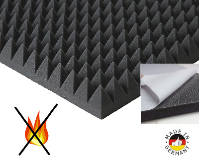Pyramids Foam Self Adhesive Insulation Acoustic Sound Protection Flammhemend PC