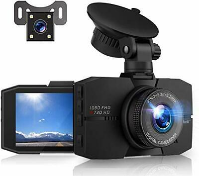 Campark Dash Cam for Cars Front and Rear with night vision 1080P Full HD