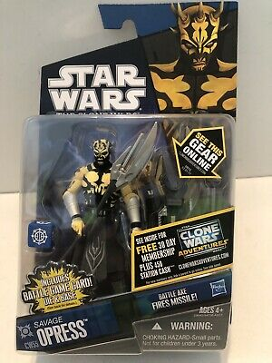 Star Wars The Clone Wars  2010 Savage Opress Action Figure CW55 Great Shape
