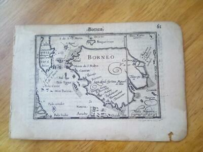 C1600'S Atlas Minor, Mercator Jodocus Hondius Series, Borneo, In French