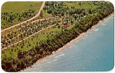 Aerial View Camping, Orchard Beach State Park, Manistee MI Michigan 1960s