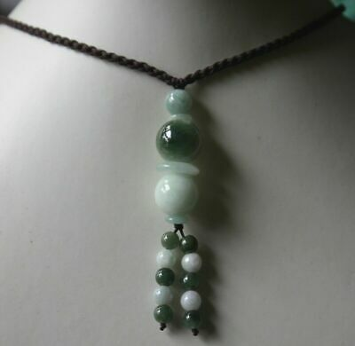 Genuine 100% Natural Untreated (Grade A) Jadeite Jade Beaded Necklace #N304