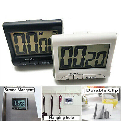 Large Digital LCD Kitchen Cooking Timer Count-Down Up Clock Loud Alarm Magnetic