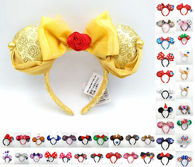 Bow Cos Belle Snowflake Disney Park Ariel Mickey Minnie Mouse Ears Headband