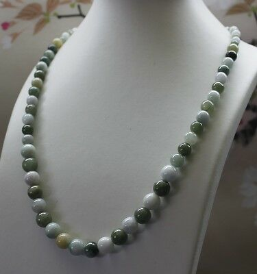 100% Natural Untreated (Grade A) Multi-Color Jadeite Jade Beaded Necklace