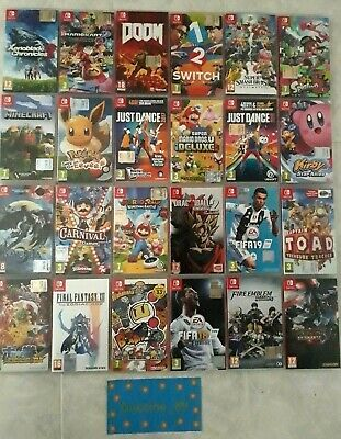 Nintendo Switch Giochi Mario Maker Kart Splatoon Smash Xenoblade Pokemon Bayonet