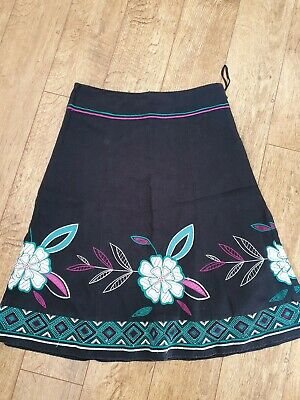 Monsoon Embroidered Skirt Size 12 Exc Cond