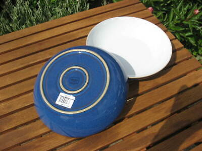 NEW DENBY IMPERIAL BLUE PASTA BOWLS x 2 - FIRST QUALITY WITH LABELS