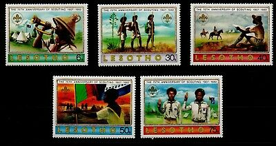 LESOTHO. 75th ANNIVERSARY OF THE  SCOUTS 1982 MNH.