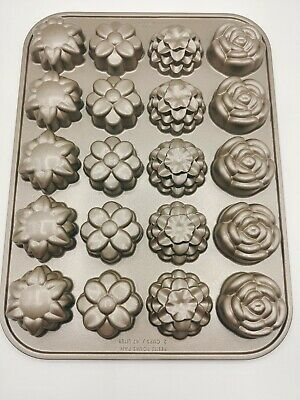Nordic Ware USA Petits Fours Pan 2 Cups / .47 Liter Flower Baking Pan