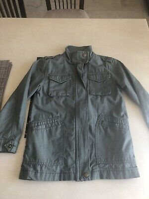 Girls Next Khaki Green Jacket With Back Detail Age 8