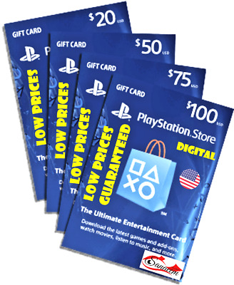 PlayStation US $10 $20 $ 25 $50 Gift Card  for USA ACC NETWORK PS3 PS4 VITA