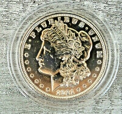 Georgeous 1921 Uncirculated  Silver Morgan Dollar in Hard Shell-Z5