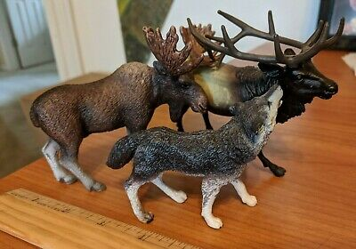 Schleich Safari Ltd Tree House Kids MOOSE / WOLF / ELK Lot of 3