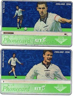 Bt Phonecards – England Football Team 1996 (2 Different Phonecards)